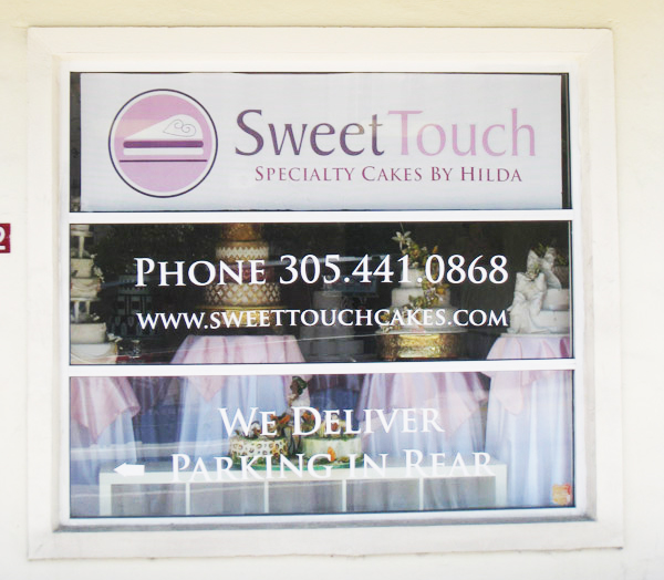store front window signage
