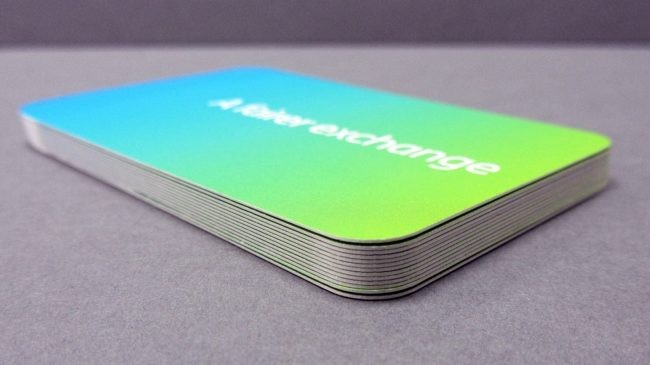 round corner business cards