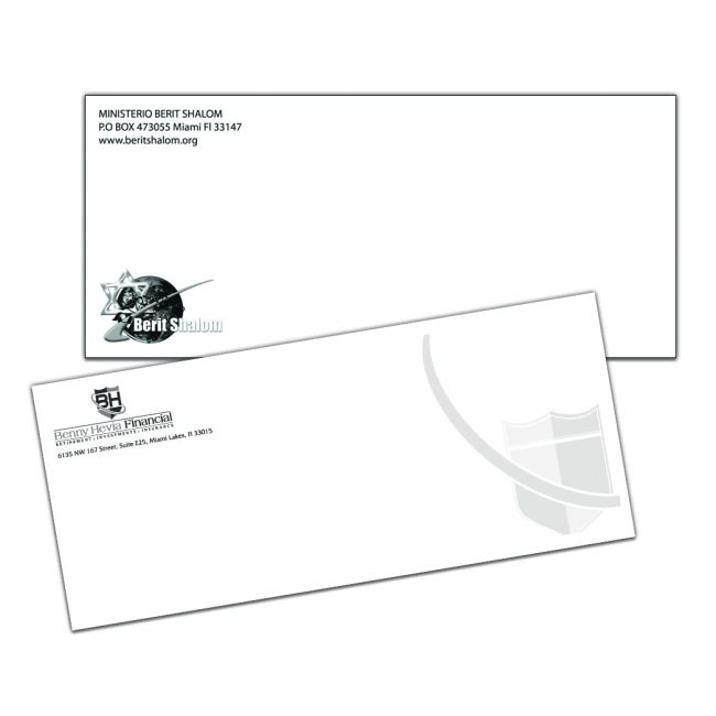 1 color envelopes
