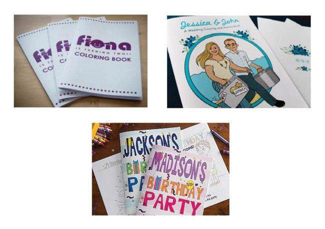 custom coloring books