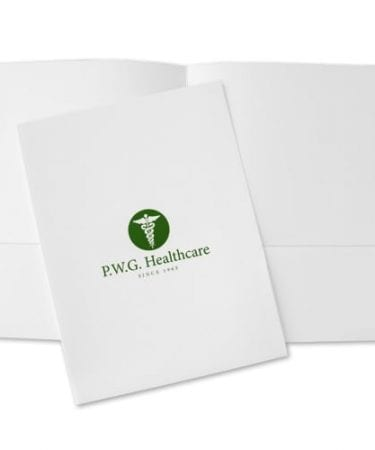 small quantity digital pocket folders