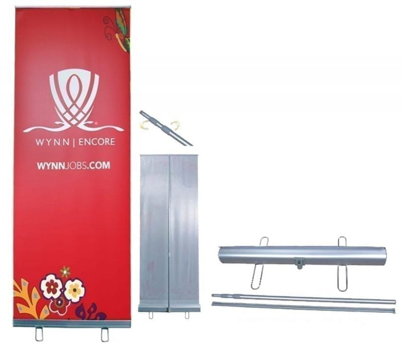 "39"" adjustable retractable banner stand"