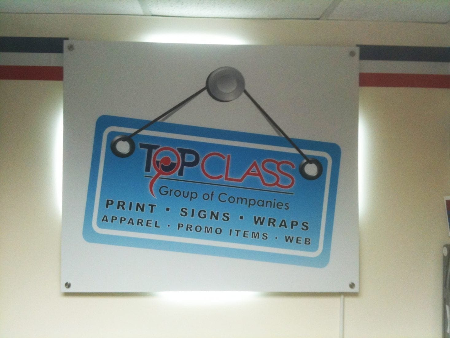 backlit foam board signs