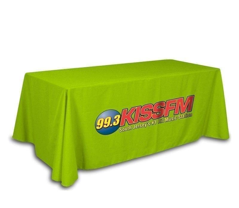 custom table covers front only full color on colored throw