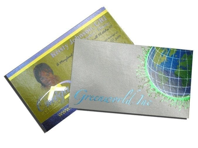 full color foil business cards