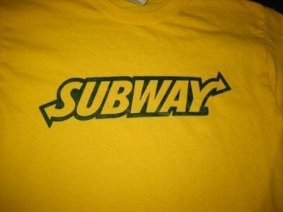subway imprinted t shirts