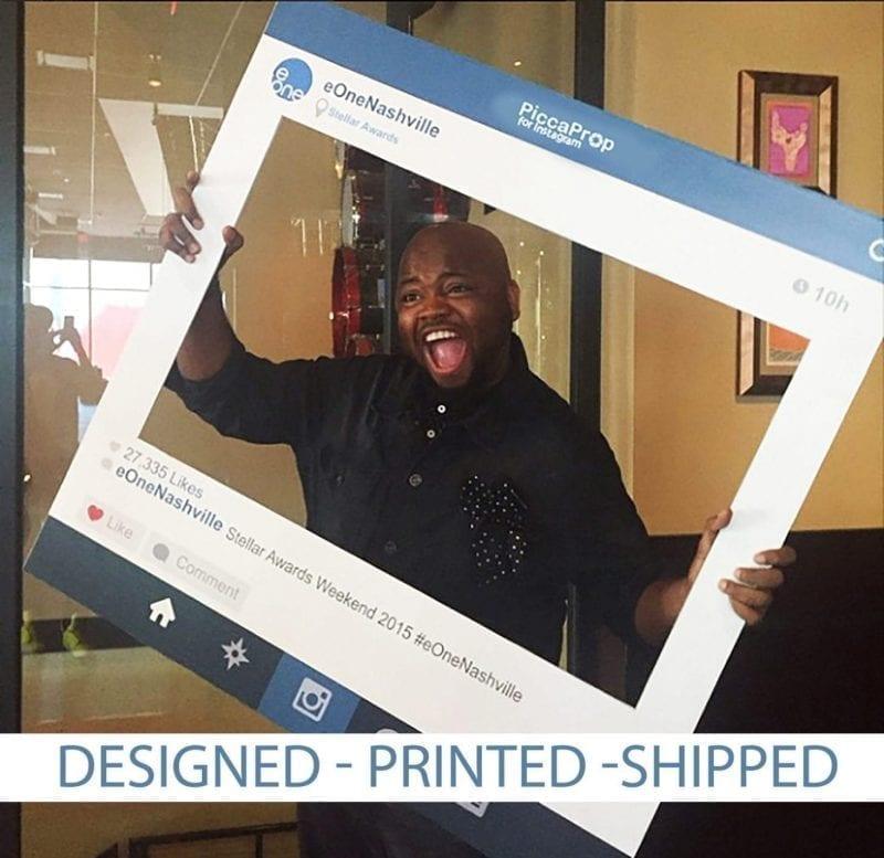 instagram frame edit picca big with text