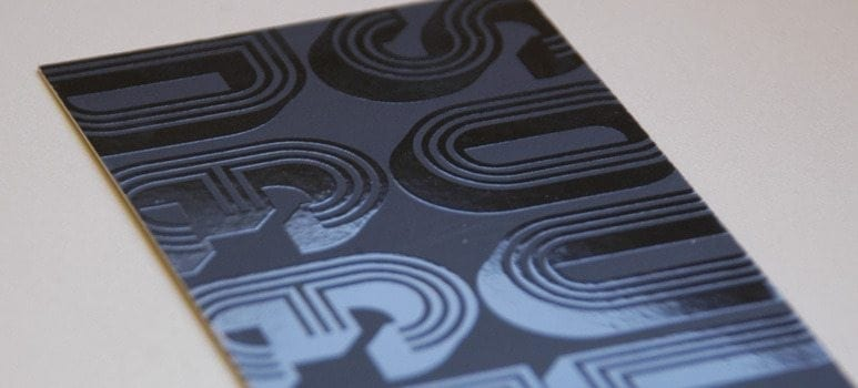 silk laminated spot uv business cards