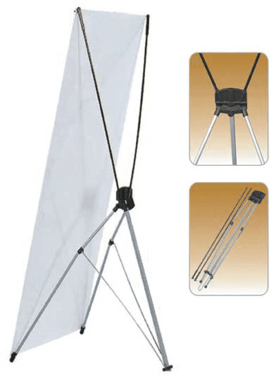 Small Standard X Type Single Sided Fibeglass Banner Stand