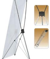 Large Standard X Type Single Sided Fibeglass Banner Stand