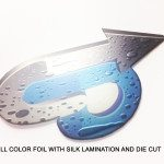full color foil cards silk lamination and die cut
