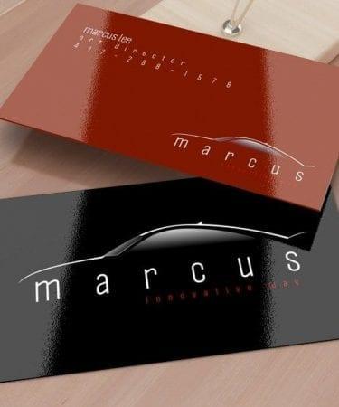 uv high gloss business card