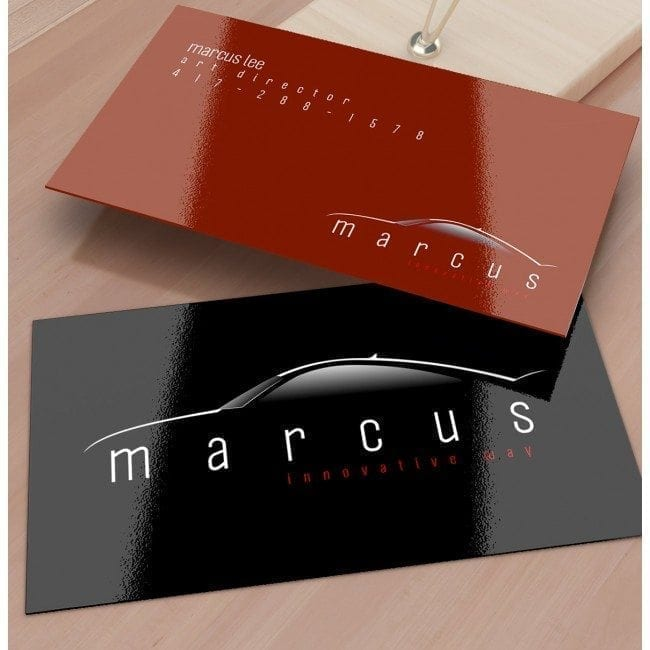 uv high gloss business card