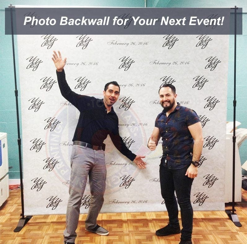 Get your step and repeat backwall for your next event!