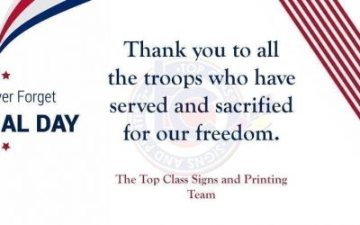 top class signs and printing sales and marketing memorial day