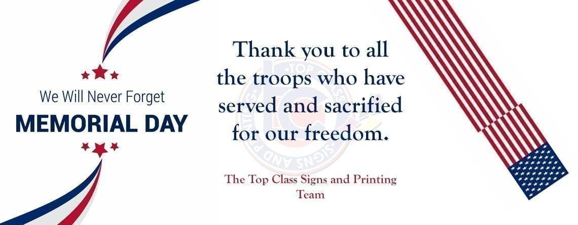 Let's thank our troops this Memorial Day for all their sacrifice