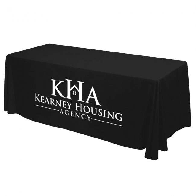 8ft imprinted table cover