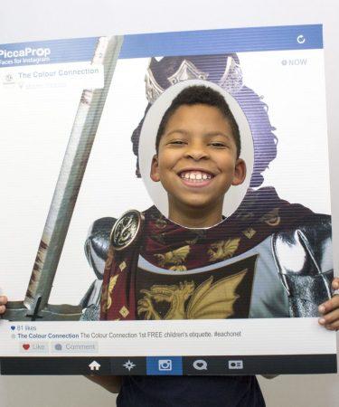 Instagram Frame Prop Knight King Cutout