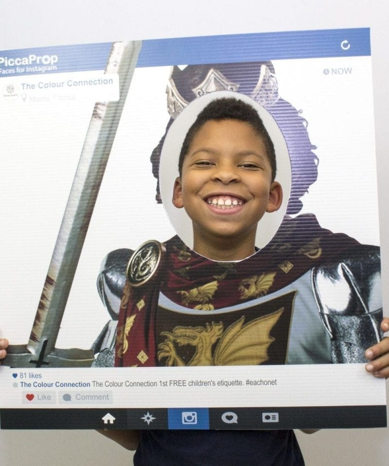 Instagram Frame Prop Knight King Cutout