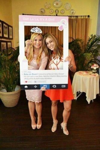 baby shower instagram prop
