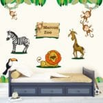 vinyl wall art - Zoo Animals Wall Decals