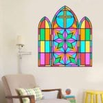cross church windows vinyl decals