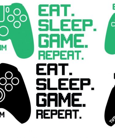 game controller wall decal layout