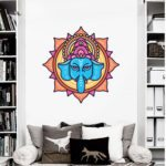 ganesh flower lotus wall decal