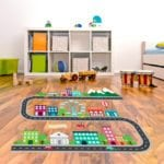 Kids racing floor decals