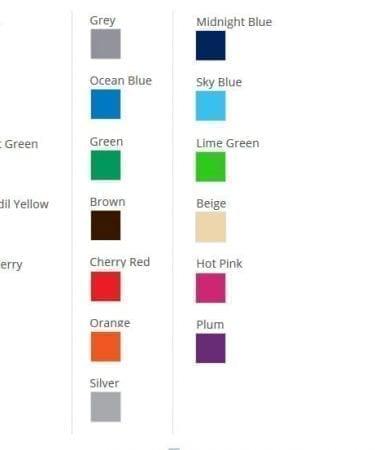 matte vinyl colors