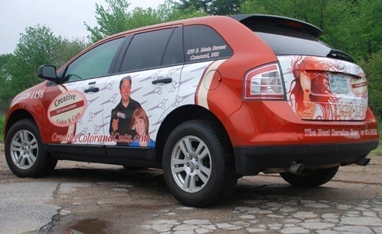 Free advertising with Vehicle Graphics and Car Wraps Miami
