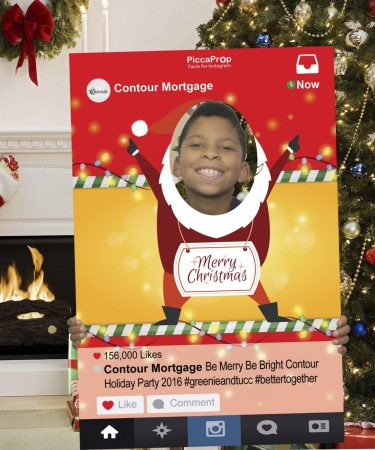 Instagram frame prop Christmas