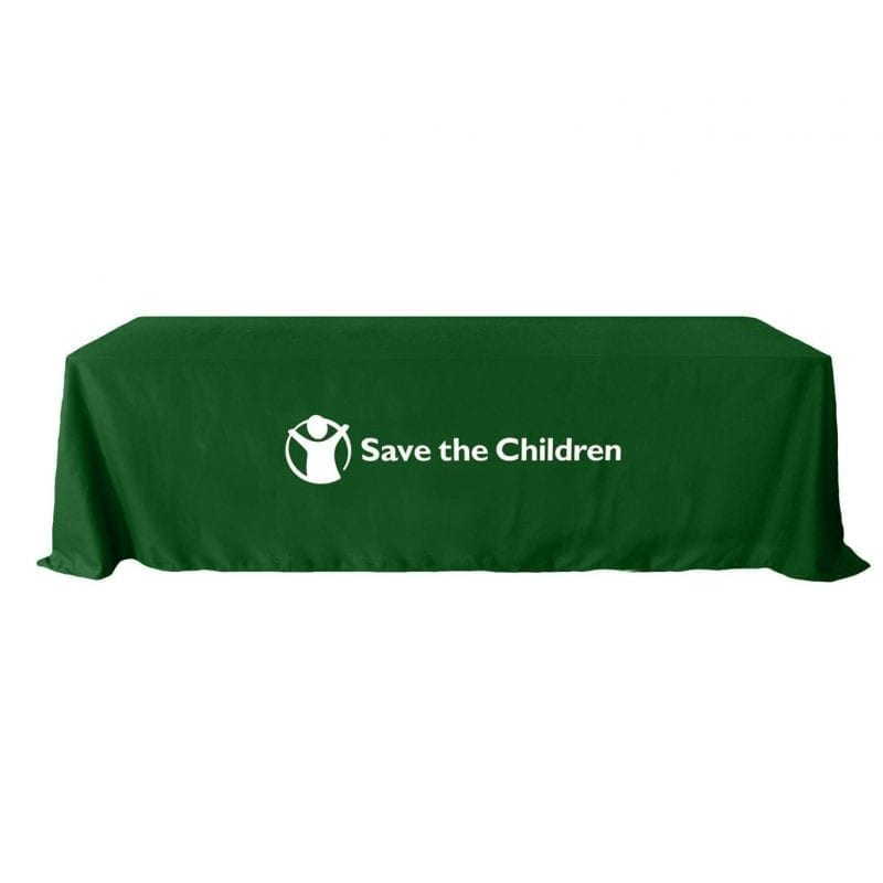 8ft green table cover