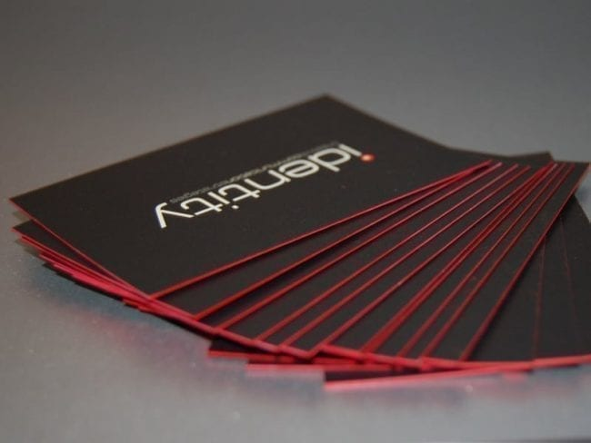 pt ultra thick business cards with painted edges