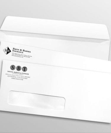 1 color window envelopes