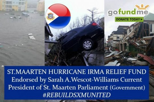 st.maarten hurrican irma donation relief fund