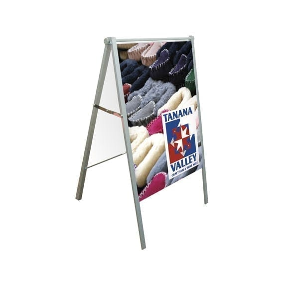Indoor Metal Sandwich A-Frame Side Walk Sign