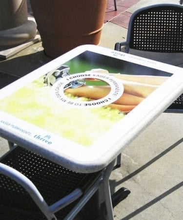 custom printed table decal