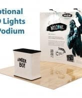 Tension fabric velcro popup tradeshow display