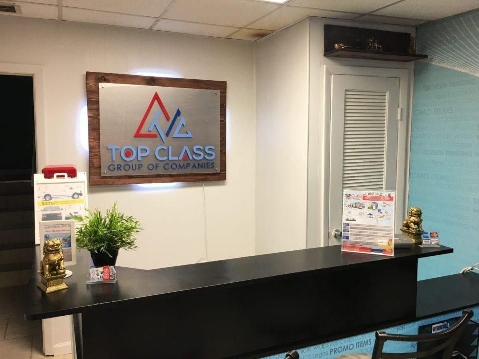 Acrylic office sign Miami Sign Company