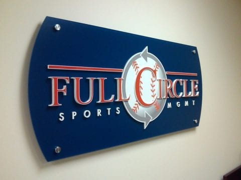 acrylic office panel signs