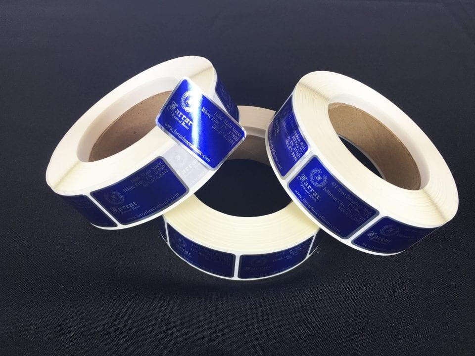 reflective custom roll labels