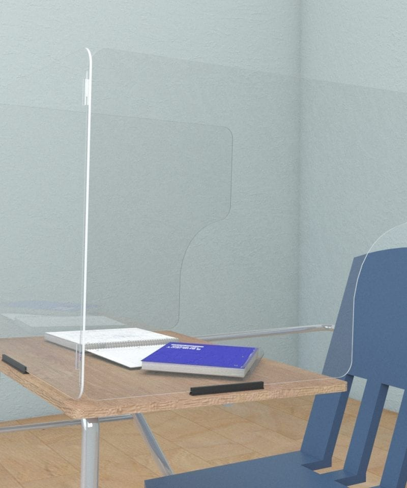sneeze guards for desks extended